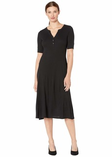 Ralph Lauren Waffle Knit Fit-and-Flare Dress