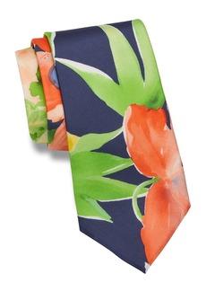 Ralph Lauren Watercolor-Floral Silk Tie
