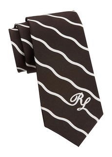 Ralph Lauren Wave Initials Silk Tie