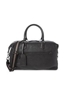 Ralph Lauren Polo Web Strap Pebbled Leather Duffel Bag