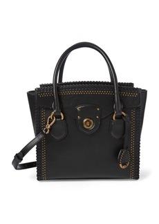 Ralph Lauren Whipstitched Leather Satchel