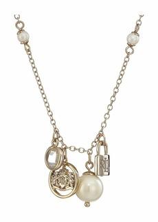 Ralph Lauren White Pearl Charm Pendant Necklace