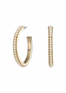 Ralph Lauren White Pearl Hoop Earrings
