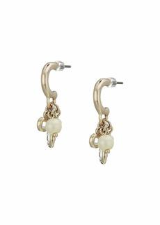 Ralph Lauren White Pearl Shaky Huggie Earrings