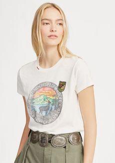 Ralph Lauren Wildlife Beaded Cotton T-Shirt