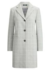 Ralph Lauren Windowpane-Plaid Coat
