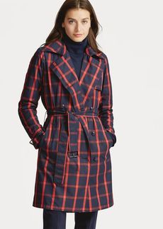 Ralph Lauren Windowpane Twill Trench Coat