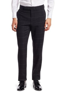 Ralph Lauren Windowpane Wool & Cashmere Twill Pants