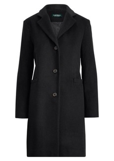 Ralph Lauren Wool-Blend 3-Button Coat