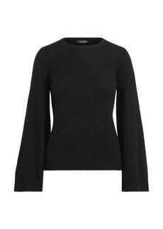 Ralph Lauren Wool-Blend Bell-Sleeve Sweater