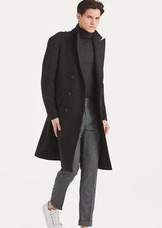 Ralph Lauren Wool-Blend Herringbone Coat