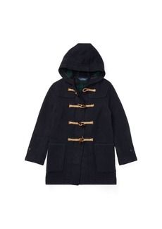 Ralph Lauren Wool-Blend Hooded Toggle Coat