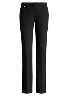 Ralph Lauren Wool-Blend Straight-Leg Pant