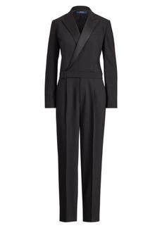 Ralph Lauren Wool-Blend Tuxedo Jumpsuit