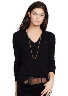 Ralph Lauren Wool Blend V-Neck Sweater