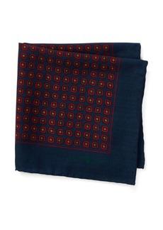 Ralph Lauren Wool Challis Pocket Square