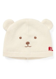 Ralph Lauren Wool-Cotton Bear Hat