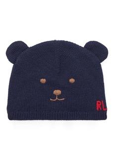 Ralph Lauren Wool-Cotton Bear Hat