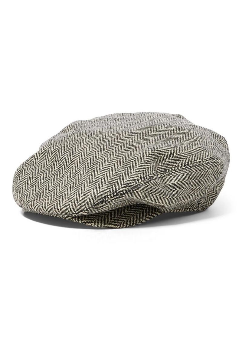 Ralph Lauren Wool-Cotton Herringbone Cap