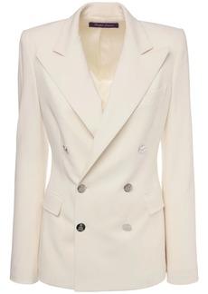 Ralph Lauren Wool Crepe Double Breast Camden Jacket