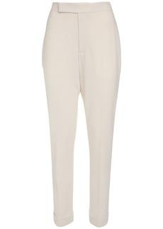 Ralph Lauren Wool Crepe Straight Leg Pants