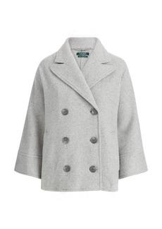 Ralph Lauren Wool Dolman Trench Coat