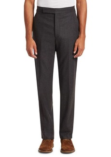 Ralph Lauren Wool Flannel Straight-Leg Trousers
