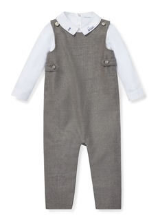Ralph Lauren Wool Overalls w/ Train Embroidery Bodysuit
