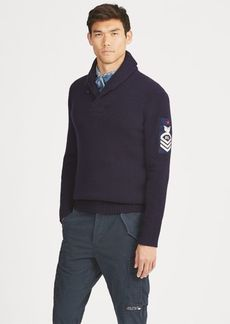 Ralph Lauren Wool Shawl-Collar Sweater