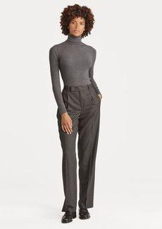 Ralph Lauren Wool Straight-Leg Pant