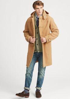 Ralph Lauren Wool Twill Hooded Duffel Coat