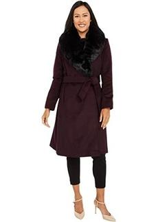 Ralph Lauren Wool Wrap with Faux Fur