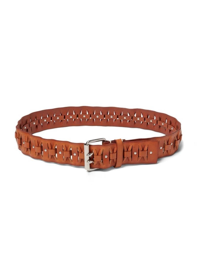 Ralph Lauren Woven Calfskin Belt