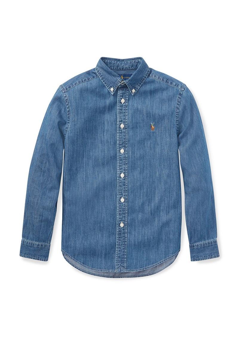 Ralph Lauren Woven Chambray Shirt  Size S-XL