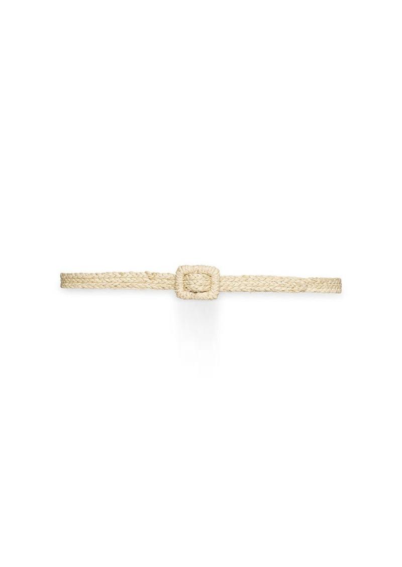 Ralph Lauren Woven Raffia Belt