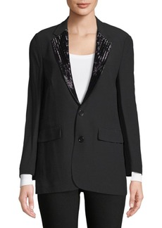 Ralph Lauren Yvette Beaded-Lapels Jacket