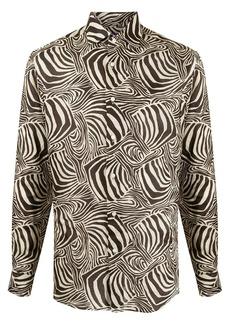 Ralph Lauren zebra-print linen shirt
