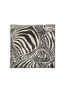 Ralph Lauren Zebra-Print Silk Pocket Square