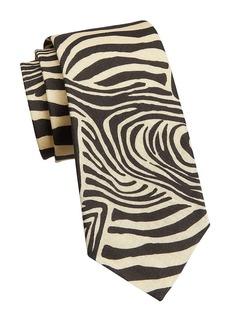 Ralph Lauren Zebra Linen Tie