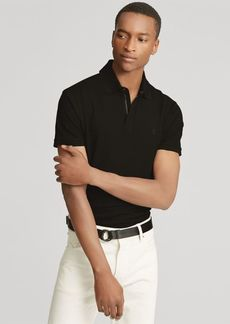Ralph Lauren Zip-Placket Stretch Piqué Polo
