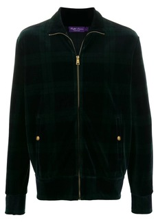 Ralph Lauren zip up tartan print sweatshirt