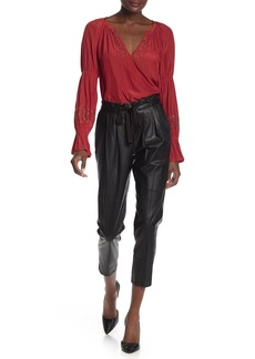 Ramy Brook Allyn Leather Cropped Pants