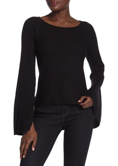 Ramy Brook Audrina Bell Sleeve Ribbed Knit Sweater