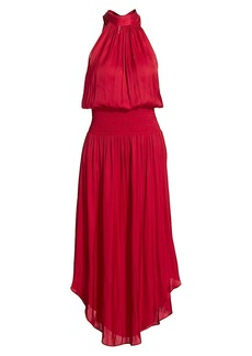 Ramy Brook Bella Blouson Halter Dress
