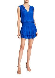 Ramy Brook Bernice Sleeveless Tiered Short Dress