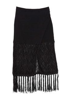 Ramy Brook Codey Tassel Trim Skirt