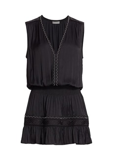 Ramy Brook Devon Chevron-Trim Dress