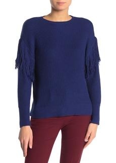 Ramy Brook Erin Fringe Sleeve Knit Sweater