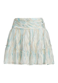 Ramy Brook Fiora Skirt Flounce Mini Skirt