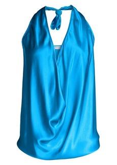 Ramy Brook Harriet Convertible Stretch-Silk Top